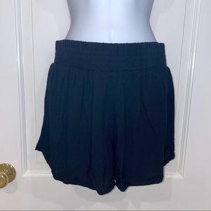 Love...Ady black elastic waistband shorts S